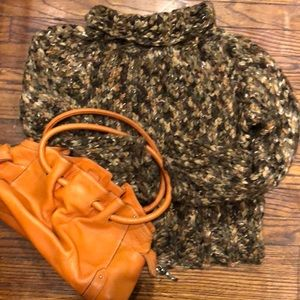 Cole HAAN Iconic Orange Pebbled satchel